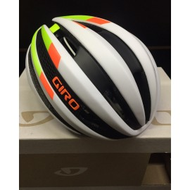 GIRO Casco Synthe Matte White/Lime Flame