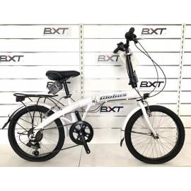 """GLOBUS Bici Pieghevole 20"""" Alluminio 6v. Bianco"""