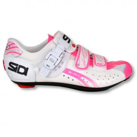 SIDI Scarpe road Genius 5 FIT Carbon Woman Bianco/Rosa Fluo