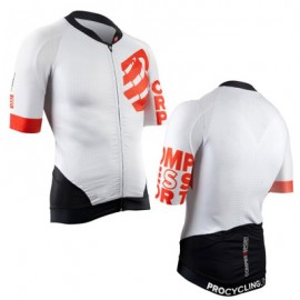 COMPRESSPORT Cycling On/Off Jersey Bianco Compressport SKU-2531