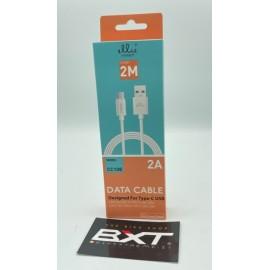 ELLIETECH Cavo Type-C USB 2A Bianco 2 Metri  722640