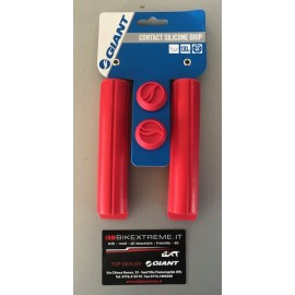 GIANT CONTACT SILICONE GRIP RED Coppia Manopole MTB Giant 190000073-RED