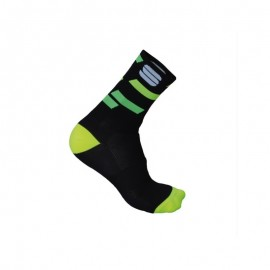 Sportful Calzino Flair 15 Black/Yellow Fluo/Green Fluo
