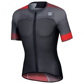 Sportful Maglia Bodyfit Pro Light Jersey Anthracite/Black/Red