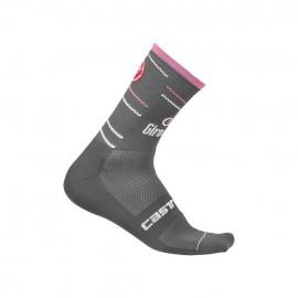 Castelli Calzino Giro D'Italia 12 Antracite-Rosa
