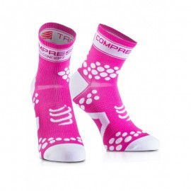 Compressport V2 Fluo Pink Calzino Compression Compressport SKU-2324