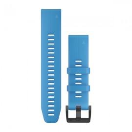 GARMIN Cinturino Quickfit 22 Silicone Cyan Blue