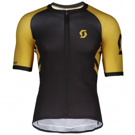 SCOTT Maglia RC Premium Climber Black/Ochre Yellow