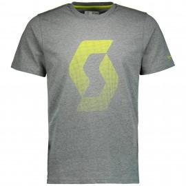 SCOTT Maglia Icon Factory Team s/sl Dark Grey/Sulphur Yellow