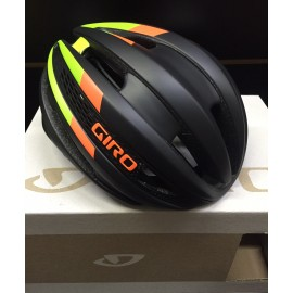 GIRO Casco Synthe Matte Black/Lime Flame
